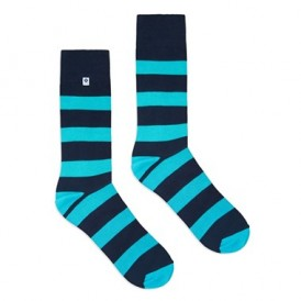 4lck colourful socks with blue and turquoise stripes, striped socks for men