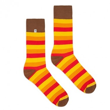 4lck colorful socks with orange, yellow and red stripes