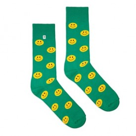 Smile Emoji green socks