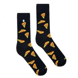 4lck czarne Skarpetki z motywem Pizza, śmieszne skarpetki