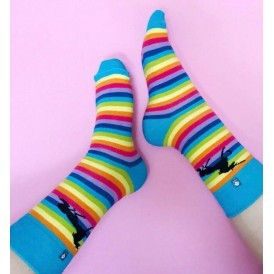 Rainbow Unicorn Socks for Girl