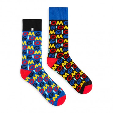 4LCK socks OMG, colourful socks Oh My God, for Men