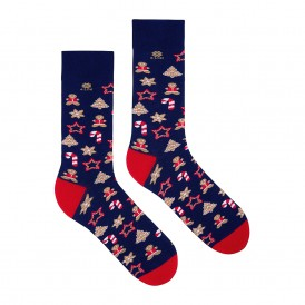 Christmas blue socks 4lck
