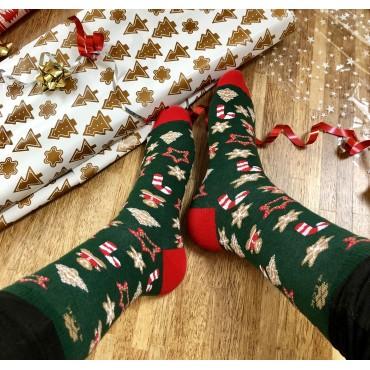 Christmas blue socks 4lck