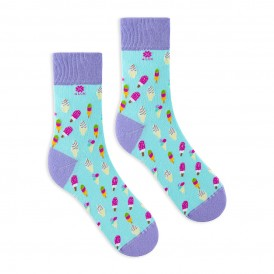 Pistachio funny socks with colourful sweet ice cream