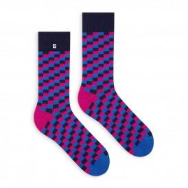 4lck blue pink violet checkered socks