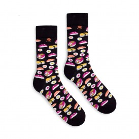 4lck colorful funny Socks with Sushi food