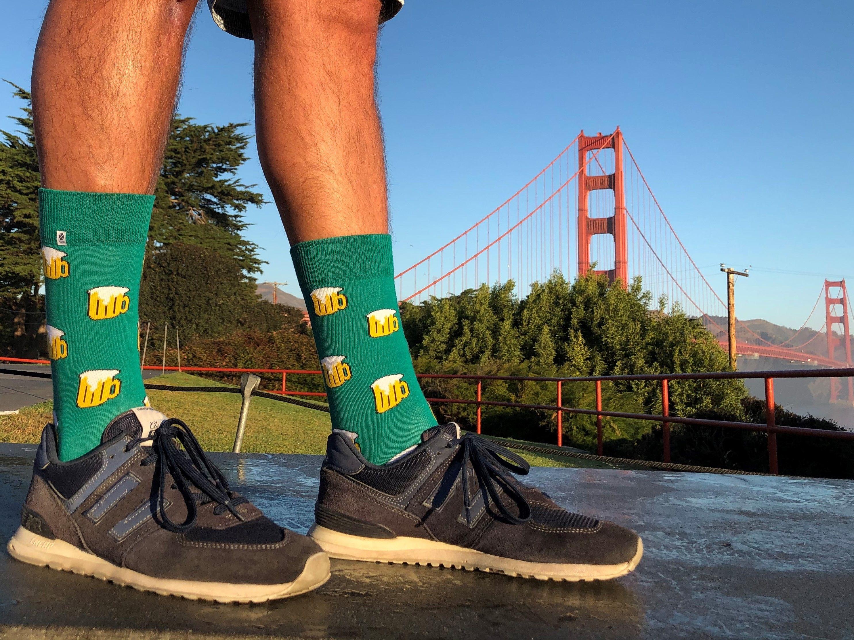 4lck Beer socks, Golden Gate, San Francisco
